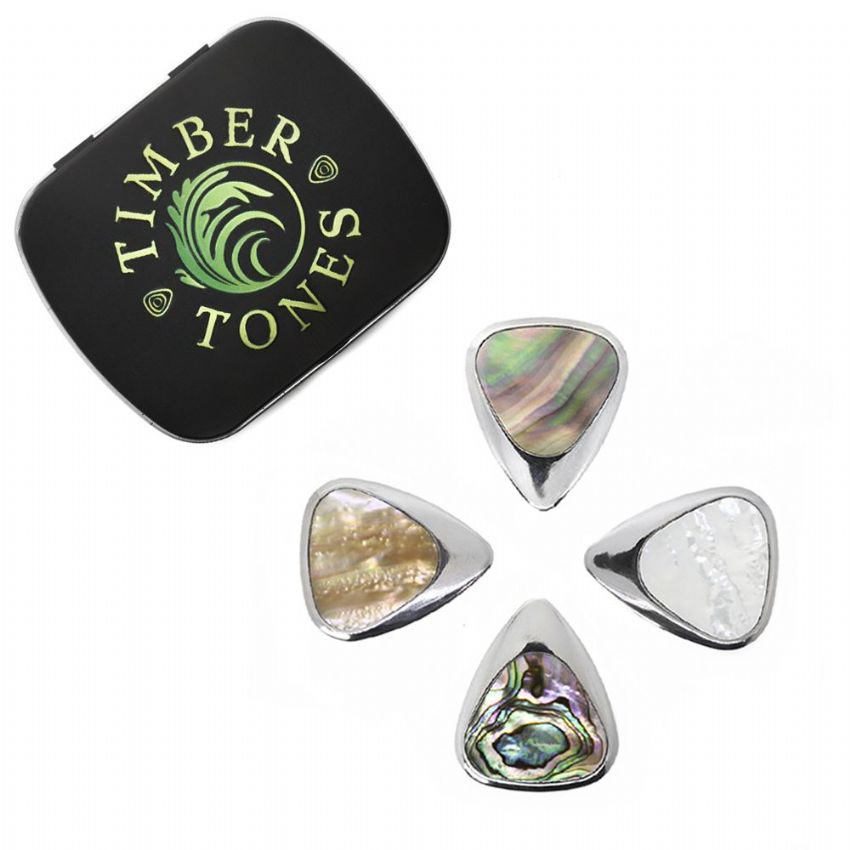 Inlay Tones - Tin of 4 Guitar Picks | Timber Tones